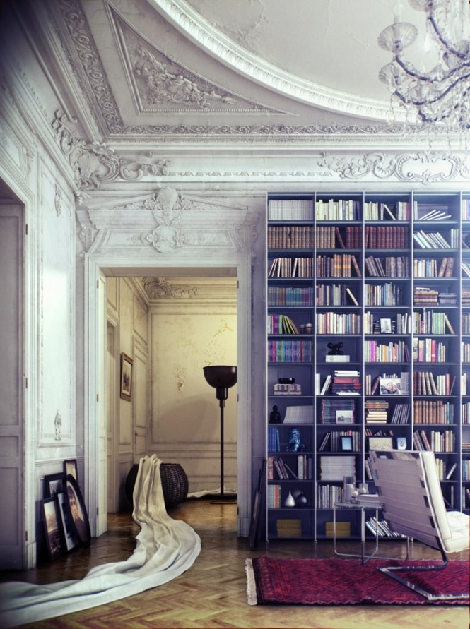 micasaessucasa :     (via  Library Inspiration )