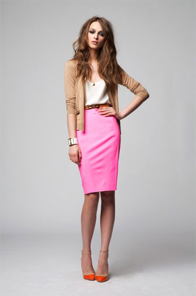 kourtneyjackson :     Deep orange, bubblegum pink, & camel palette.