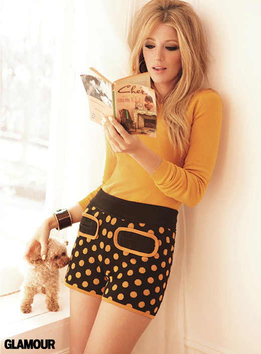 prepfection :     Blake Lively for Glamour   I wish I could steal this outfit for the bruins parade tomorrow.     this is for nikki.