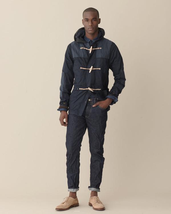 urbanemenswear :     Wrinkled denim has never looked so stylish. J.Crew spring/2011 lookbook