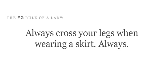 FIX:   ALWAYS KEEP YOUR LEGS TOGETHER, CROSS YOUR ANKLES, and TUCK THEM TO THE SIDE OF YOUR SEAT WHEN WEARING A SKIRT.  ALWAYS.