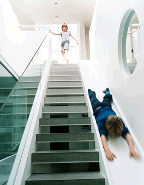 irockirockirock :     stair slide     my kids will need this.  heck.  i need this.