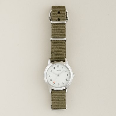 i bought this (timex for jcrew traveler watch) in honolulu today.  i also bought 2 bands… hott pink and chartreuse striped.  LOVE.