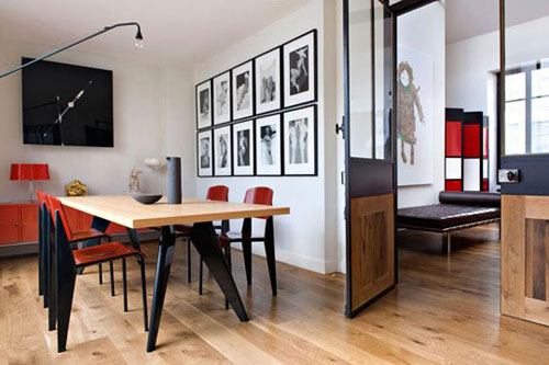 homedesigning :      design traveller: colour code: black…red…white…      the doors… love those