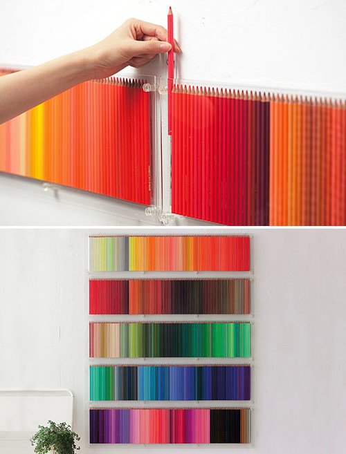 thingsorganizedneatly :     Colour co-ordinated colour pencils.     think of the renderings i could do with THAT set of prismacolors. they would be PHENOMENAL.