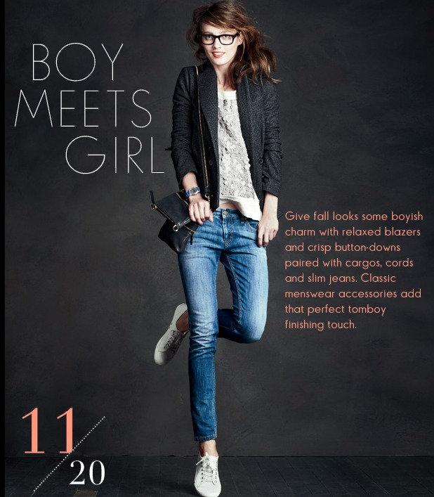 the newest jcrew model has my hair color and complexion… and wears killer outfits.  check it.
