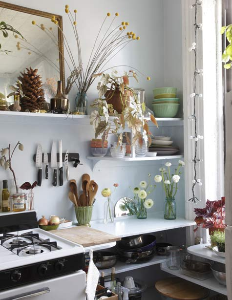 there should be more plant life in a kitchen. this is perfect.