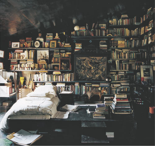 books.  books.  more books.  sleep in books.  sleep on books.