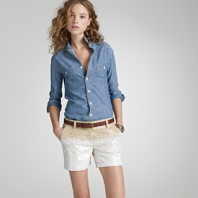 jcrew sequin shorts are a must for this next season. honestly. i almost peed my pants when i saw these.