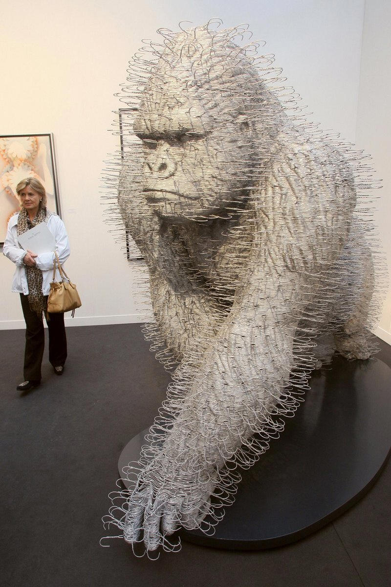this is made entirely of hangers.  bad ass.
