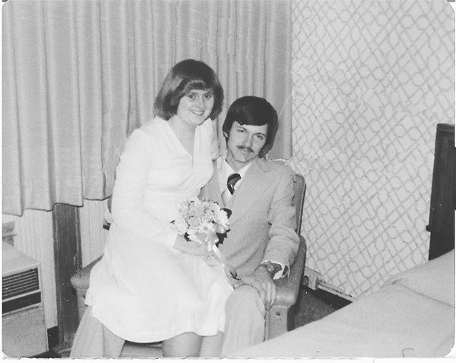 ❤️ HAPPY 40 YEARS of MARRIED LOVIN' to these two parents of mine. ❤️ Marriage is hard work, but I didn't get a good idea of how hard it could be growing up around the patience these two have for one another.  I guess that's because they had thirteen years of experience down before I came along. 🤔😜😉Love you both, mom and dad!