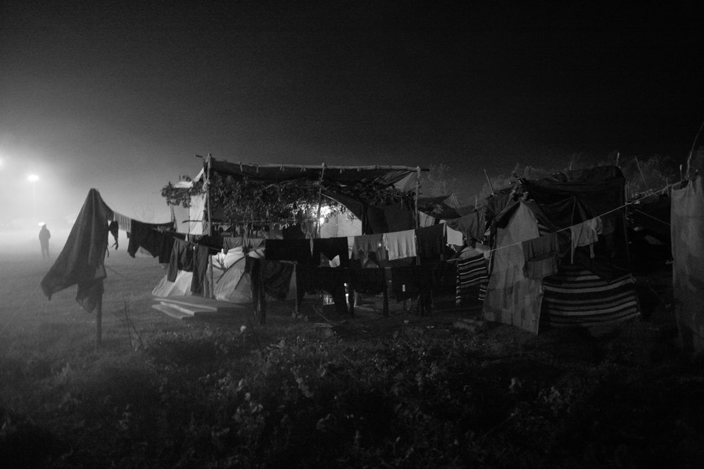Laundry, Transit Camp at Horgoš, Serbian/Hungarian Border, August 2016
