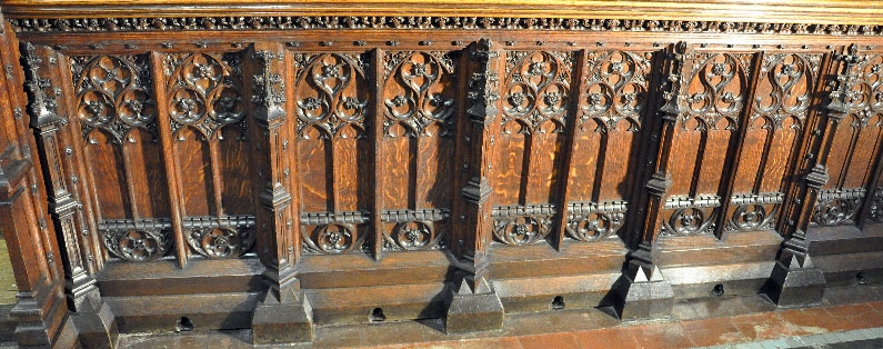 Our beeswax furniture polish is being used to restore19th century oak choir stallsat St Mary-le-Tower Church in Ipswich