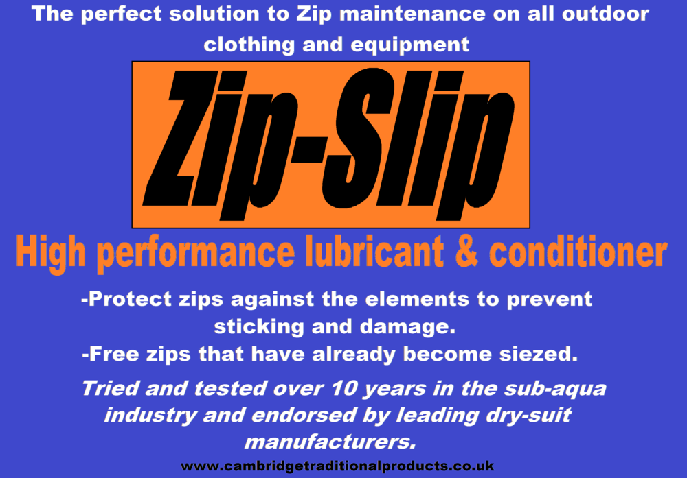 Zip-Slip - zip lubricant and zip repair for outdoor clothing and equipment