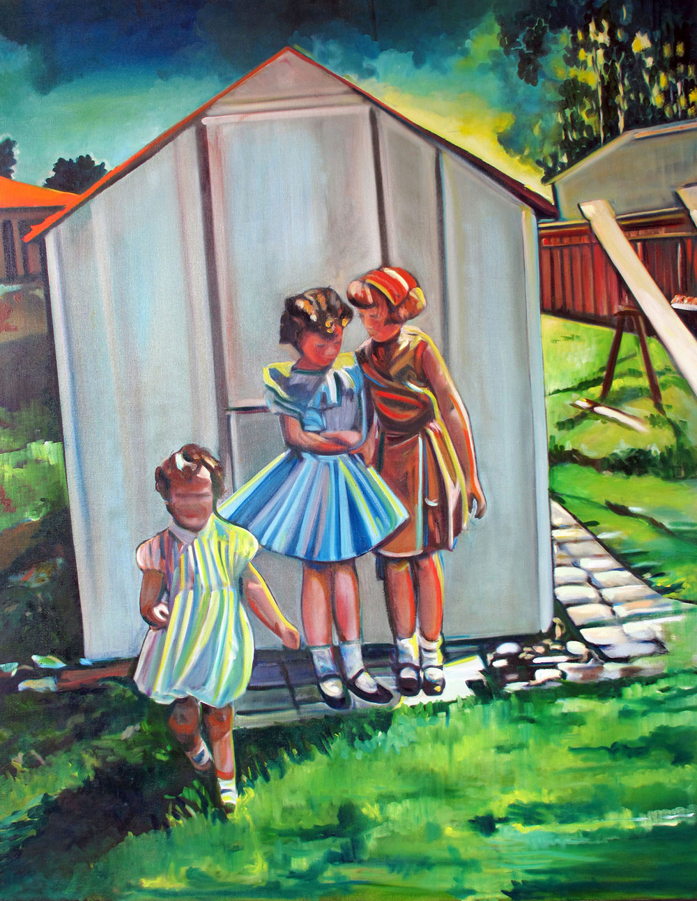 There are Secrets , (2010) Oil on Canvas/ 54 x 48 inches