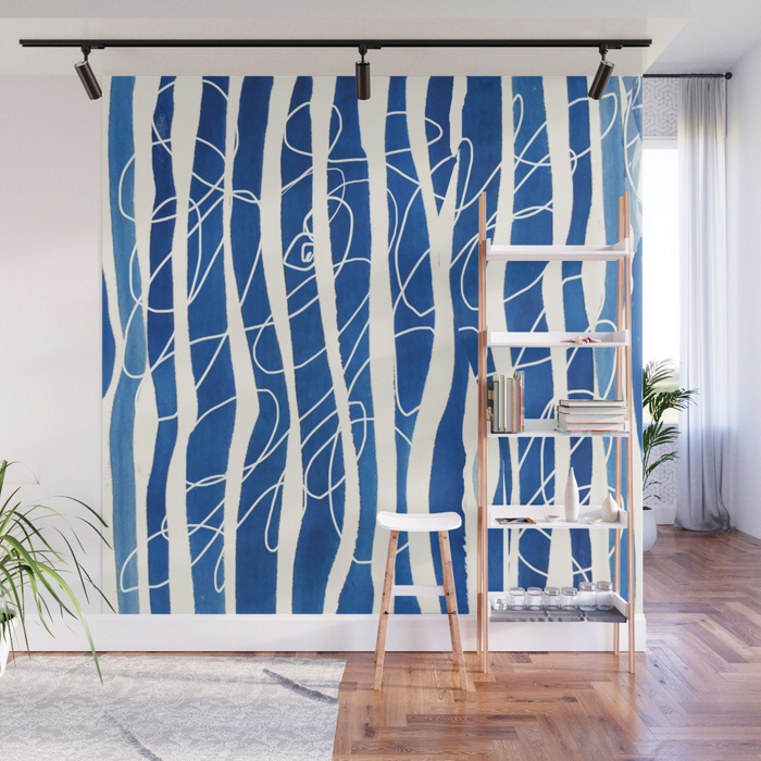 Bluest Blue Wave-Wall Panel