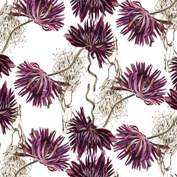 magenta flowers falling