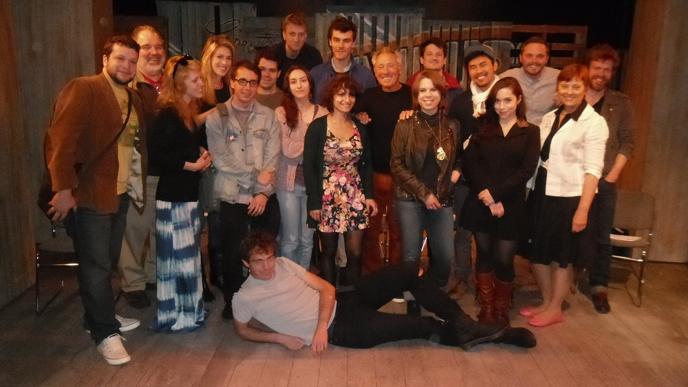 Here's the whole gang from the screenwriting workshop after the final performance of the scripts.