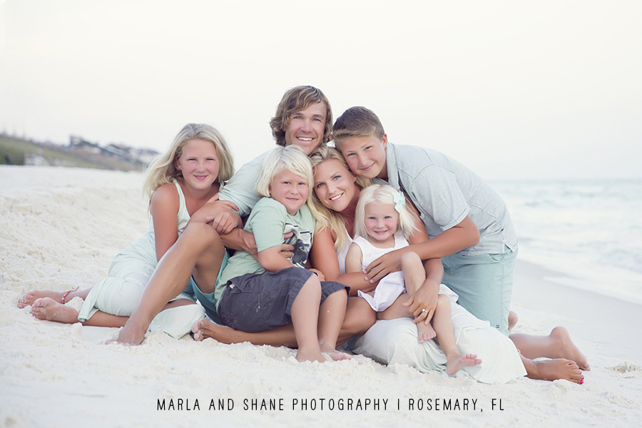 Photo cred: Marla Carter www.marlaandshane.com.....who we trust for our family beach pictures