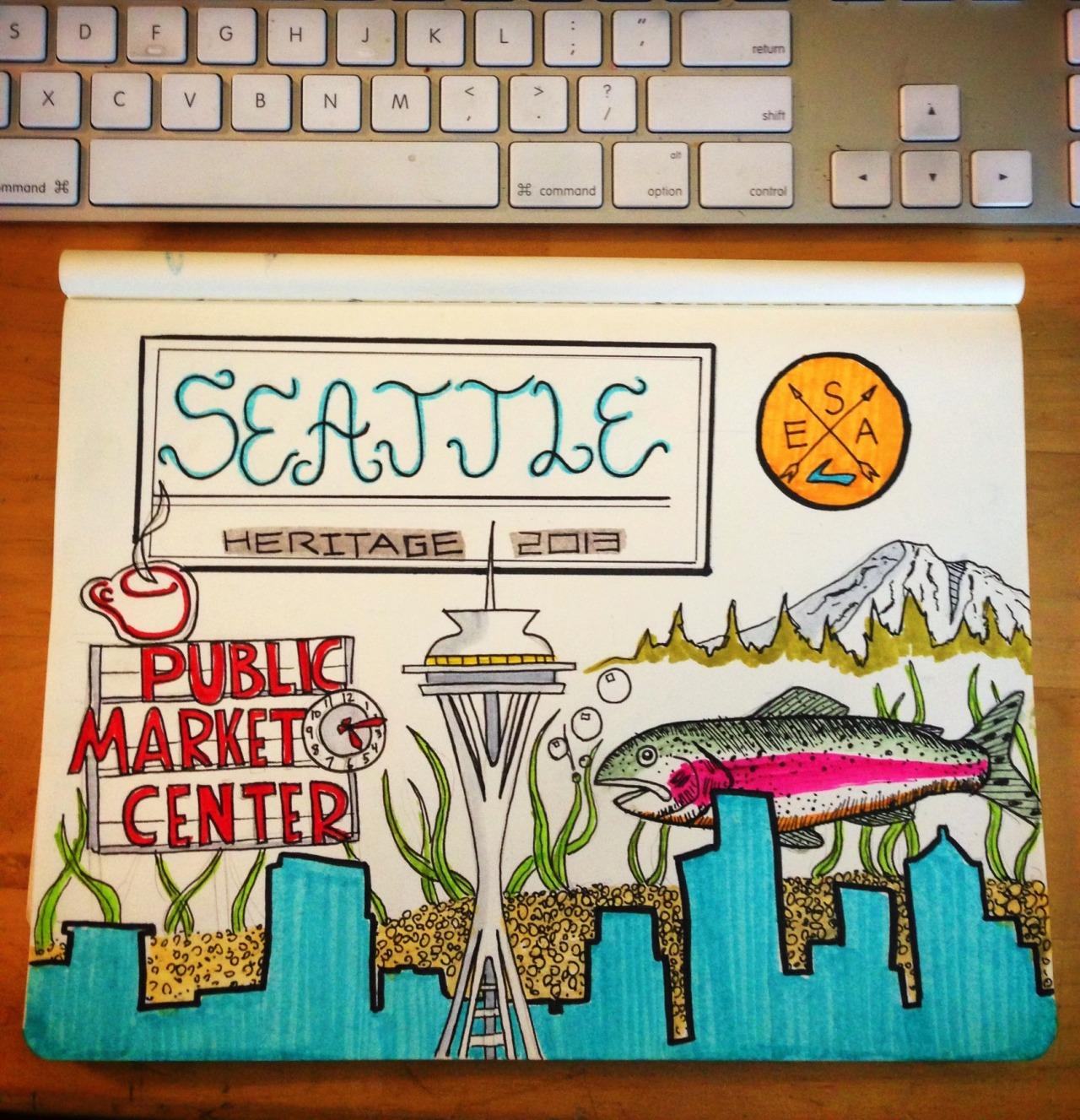 Seattle inspiration doodling.