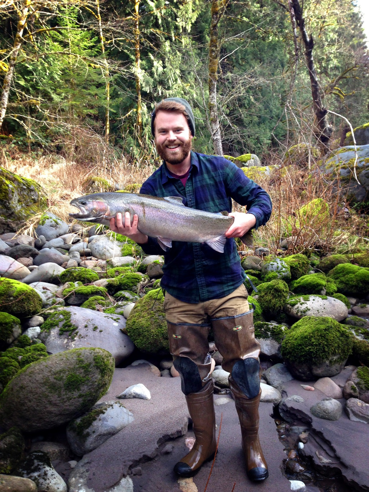 This weekend I caught a 14lb Steelhead in the Sandy River in Oregon! Most incredible experience of my life.