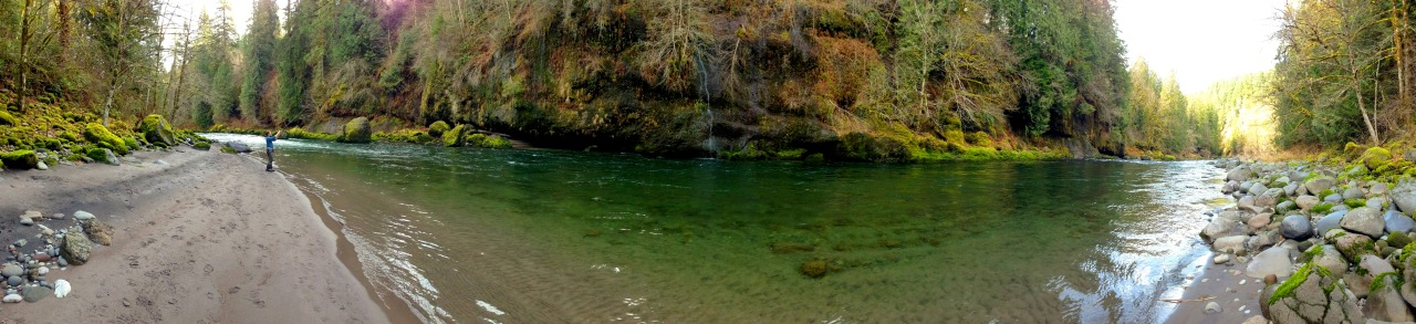 The magical spot where I caught the 14lb steelhead.