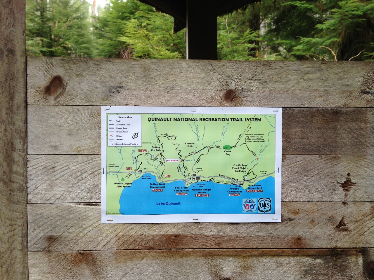Lake Quinault trail map
