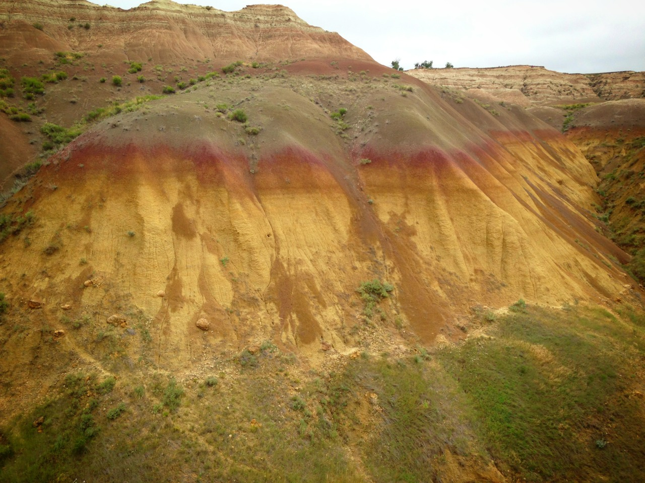Gradient hills in the badlands