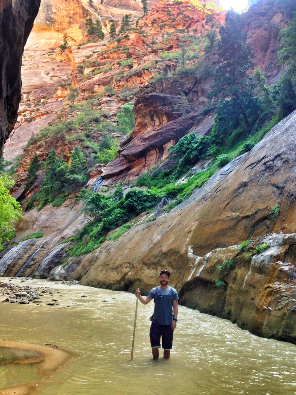 Hikes up a river through The Narrows of Zion today! Hands down one of the best experiences of my life.