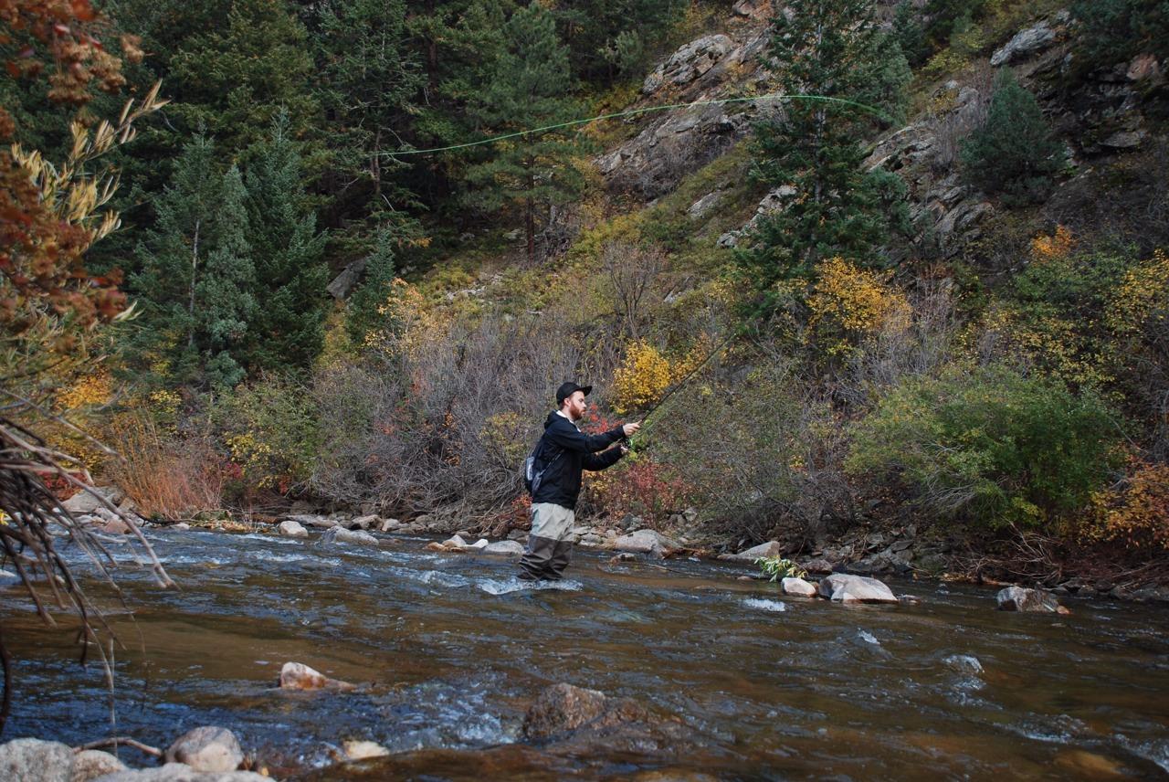 Fishing boulder creek