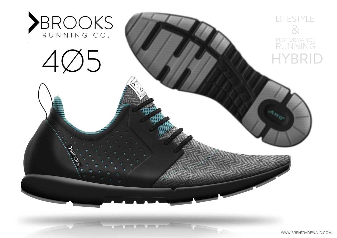 Here's my final shoe concept for Brooks Running!  You can see more images and process work on my website if you like:        www.brentradewald.com