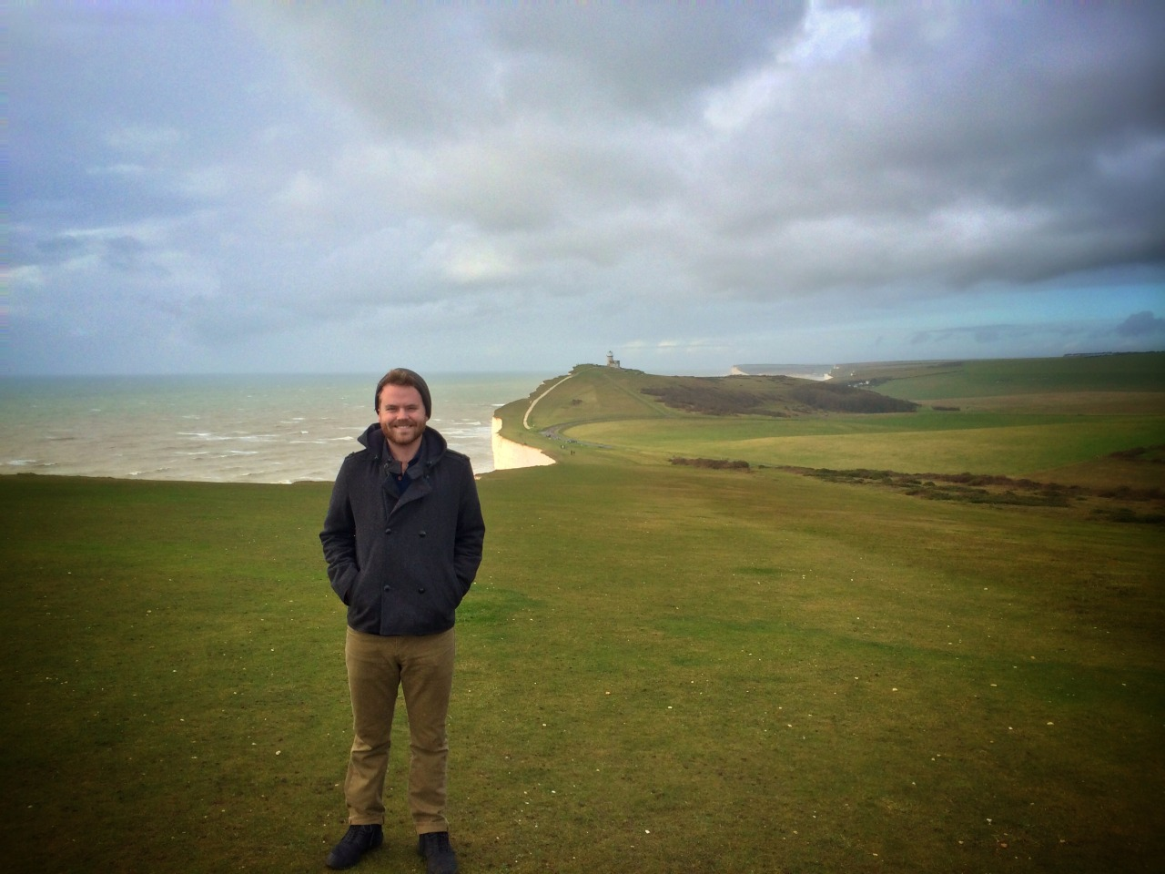 Cheezin' on the cliffs of Beachy Head