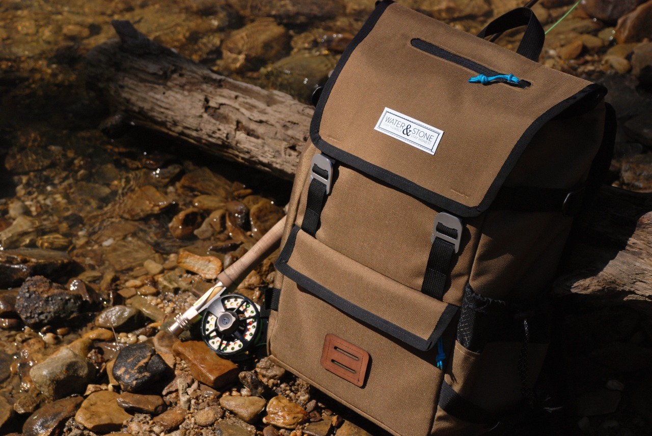 My senior capstone project.  Water & Stone | Fly Fishing Backpack. www.brentradewald.com