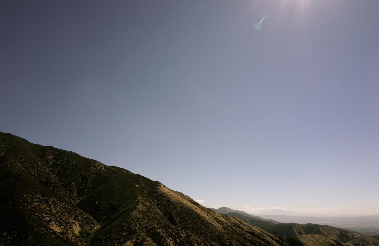 Window shot on the way to San Bernardino National Forest