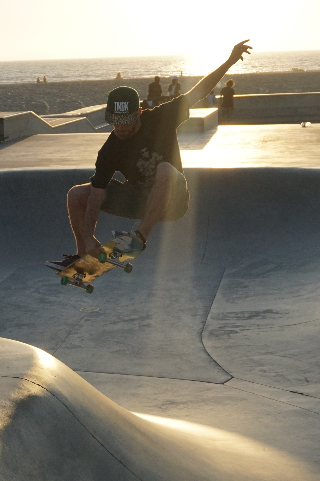 Saw some good skating at the Venice Beach Skatepark