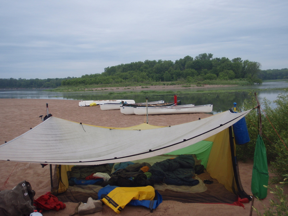 Camping on the Mississippi River