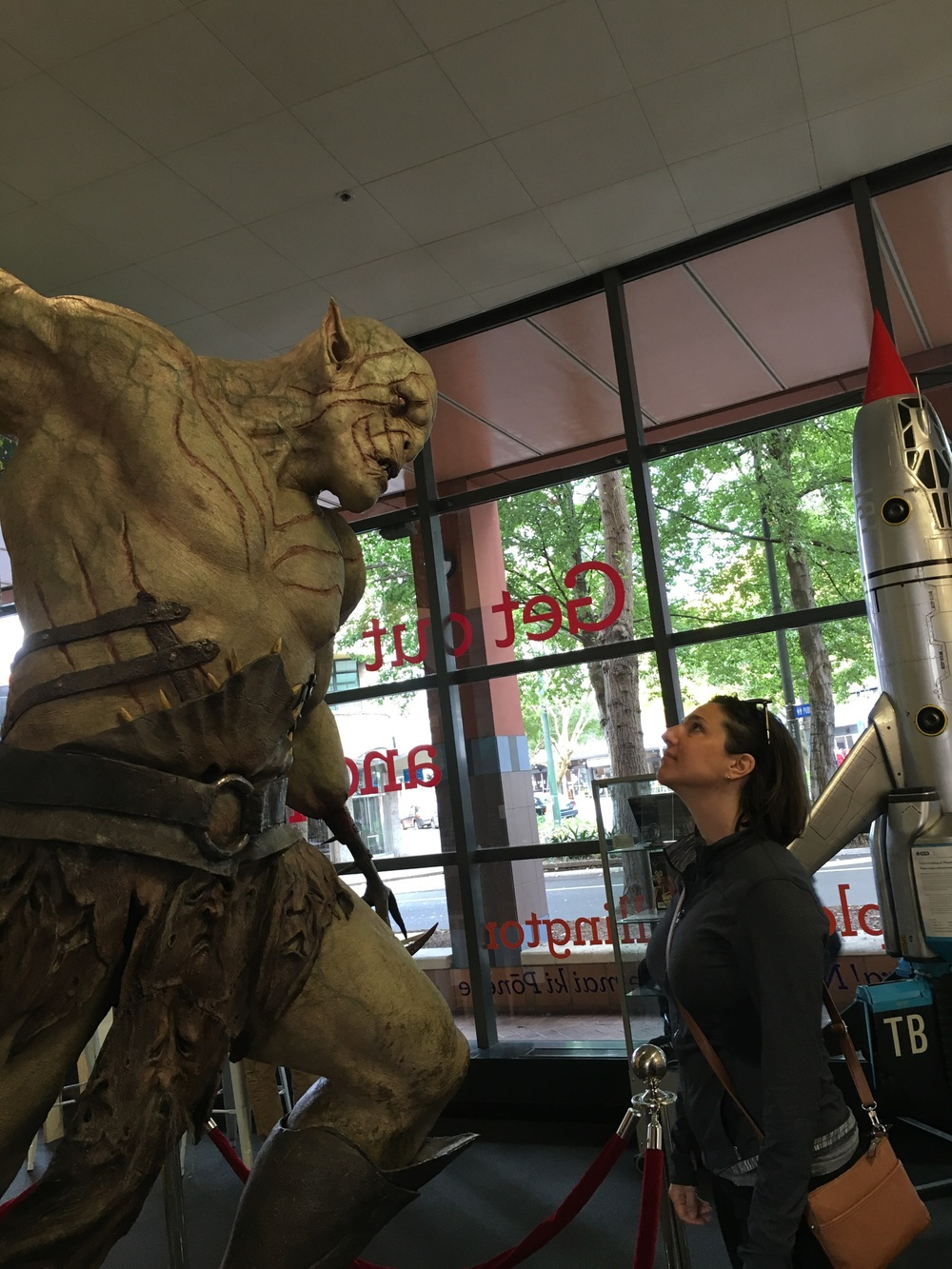 Sus v Orc from The Hobbit™ whose name escapes me. Pic taken at Wellington iSite, NZs tourist info centers