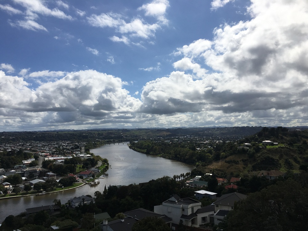 View from top of Whanganui elevator tower...