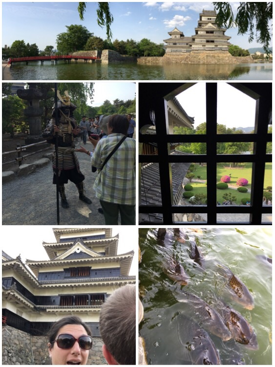 Samurai, castles, dumb faces, and agressive koi!