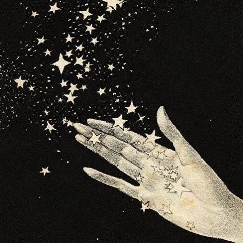 Getting in the mood for New Years ✨🌟💫 #stars #newyear #magic #wishes #illustration #stardust #blackandwhite #currentmood #magical