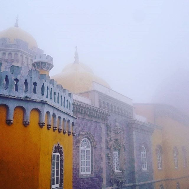 Palace in the clouds ☁ 🏰 ☁ #PenaNationalPalace #Romanticist #palace #cloud #sintra #Portugal #fairytale #otherworldly #charming #beautiful #mindblowing