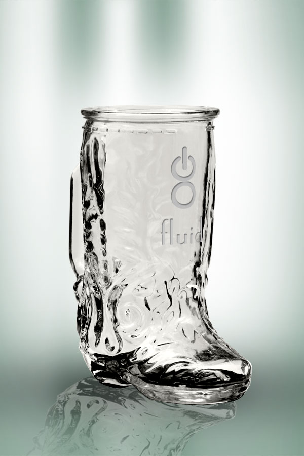 Clear Boot Mug 17 oz