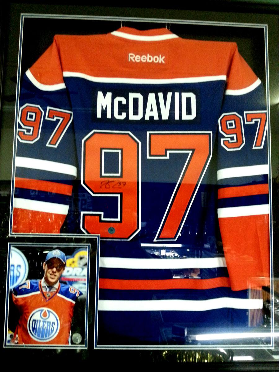 McDavid Jersey Framed/Signed