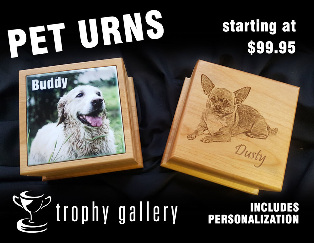 PET URNS - FULL COLOR & RED ALDER WOOD