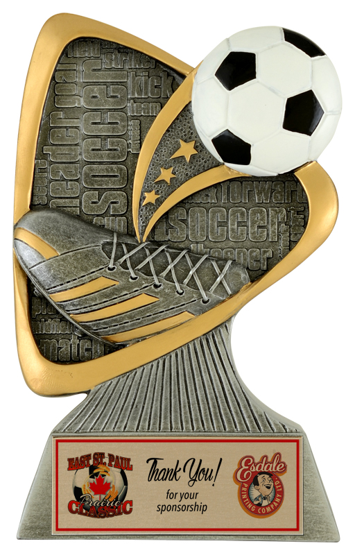 soccer trophy team award Soccer Plaque soccer soccer award sponsor plaque