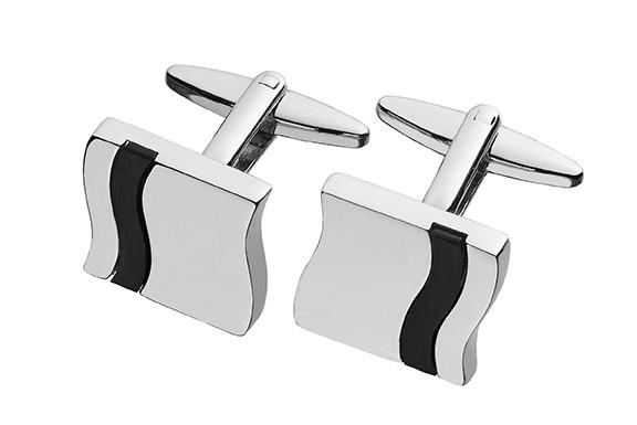 Silver Toned Tadpole Cufflinks