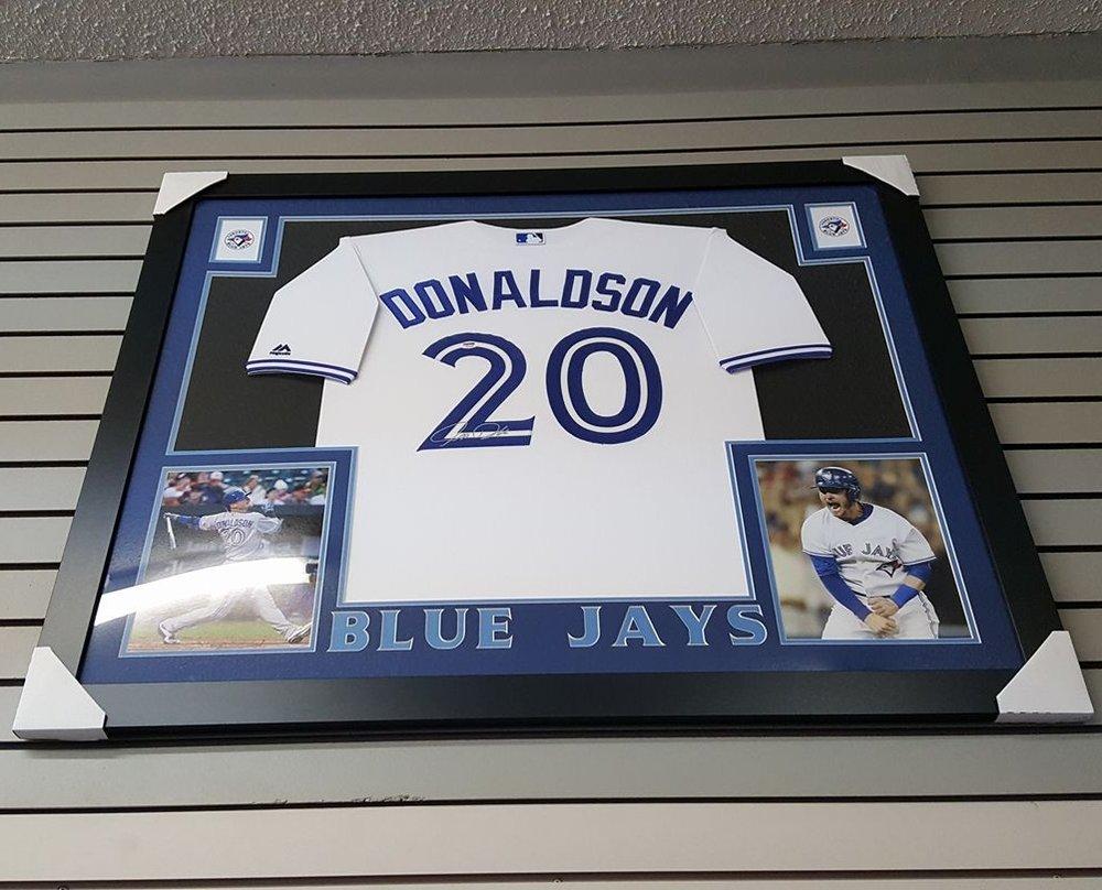 2be7f068 Custom framed display Signed Josh Donaldson - TORONTO BLUE JAYS. donaldson .jpg