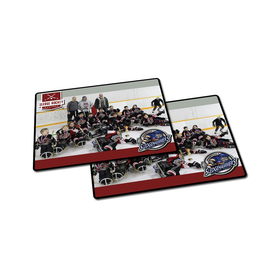 Hockey Mats - Hockey mats are produced in full color & are sublimated for outstanding image quality & durability. Design the mats how ever you like. The mats are produced on an extremely durable 1/4