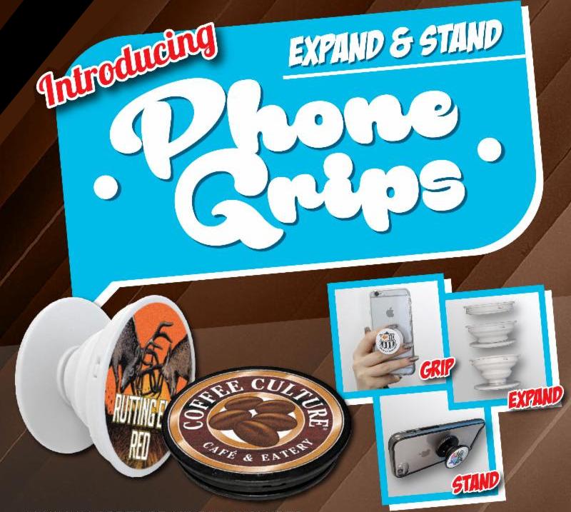 PHONE GRIPS - Great for Hockey Tournaments!!100-499 pcs. $3.32500-999 pcs. $1.981000+ pcs. $1.58