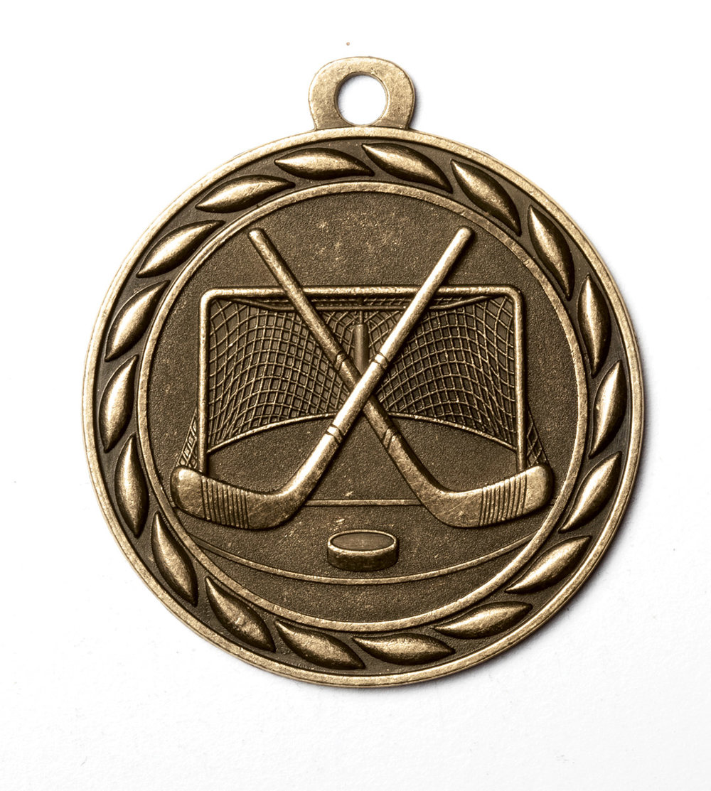 Classic Hockey Medal 2 With Ribbon Trophy Gallery
